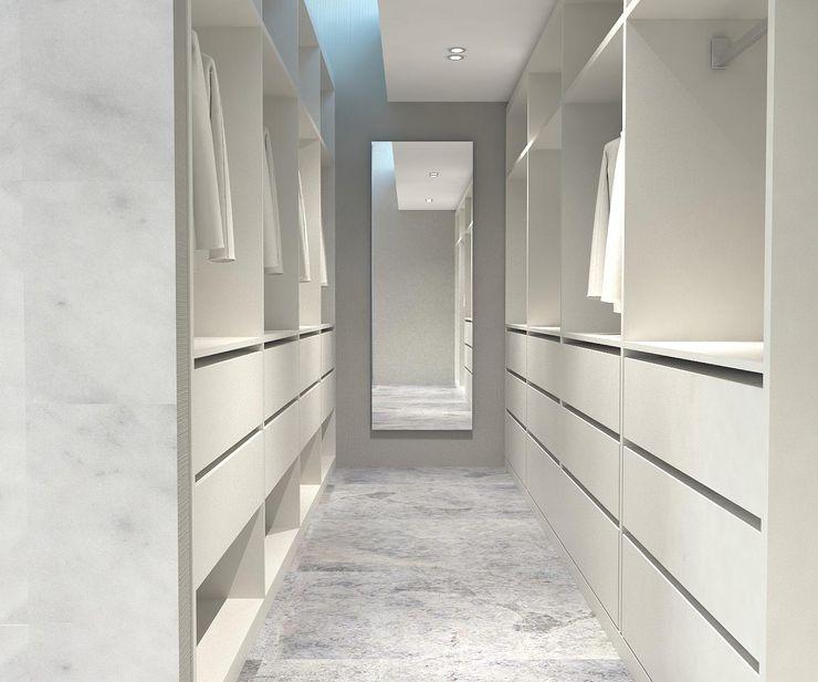 Giyinme Bölümü Kalya İç Mimarlık \ Kalya Interıor Desıgn Modern Giyinme Odası Ahşap Beyaz