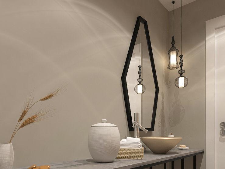 Kalya İç Mimarlık \ Kalya Interıor Desıgn 現代浴室設計點子、靈感&圖片 木頭 Black