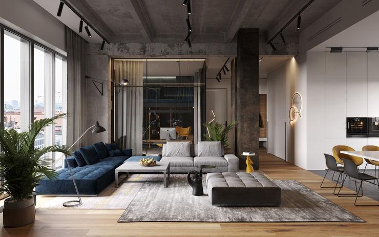 Ok loft Cartelle Design Гостиная в стиле лофт