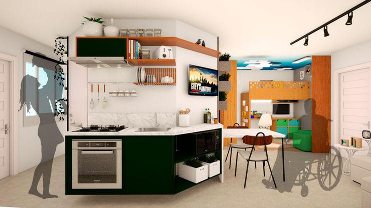 Cozinha integrada homify Cozinhas pequenas