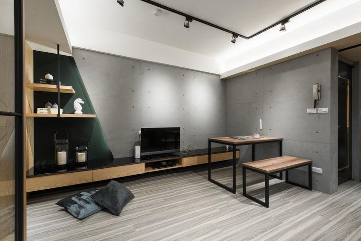 電視牆 你你空間設計 飯店 木頭 Grey