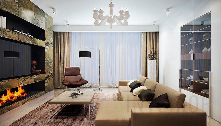 Дизайн студия 'Хороший интерьер' Modern Oturma Odası