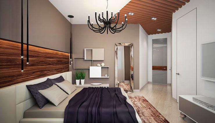Дизайн студия 'Хороший интерьер' Modern Yatak Odası