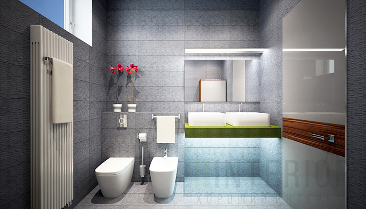 Дизайн студия 'Хороший интерьер' Modern Banyo
