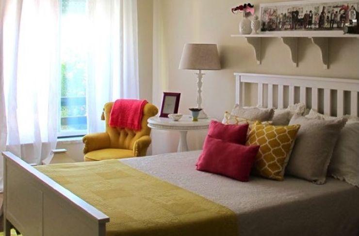 Quarto Amarelo Rafaela Fraga Brás Design de Interiores & Homestyling Quartos campestres Madeira Amarelo
