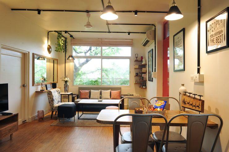 flamingo architects Livings de estilo moderno