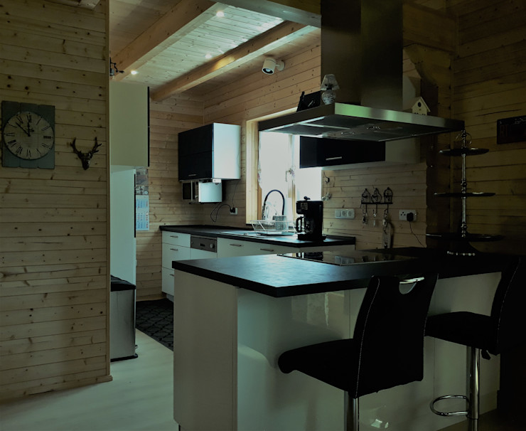 """Blockhaus """"FJORD"""" - der Klassiker von Thule Blockhaus THULE Blockhaus GmbH - Ihr Fertigbausatz für ein Holzhaus Kleine Küche Holz"""
