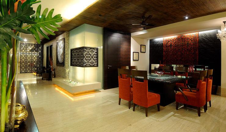 Living Room 1 JAY ENTERPRISES - Residental, Commercial & Hospitality Interior Designers Modern living room Wood Amber/Gold