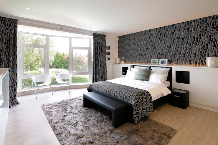 Slaapkamer modern Marcotte Style Moderne slaapkamers Marmer Grijs