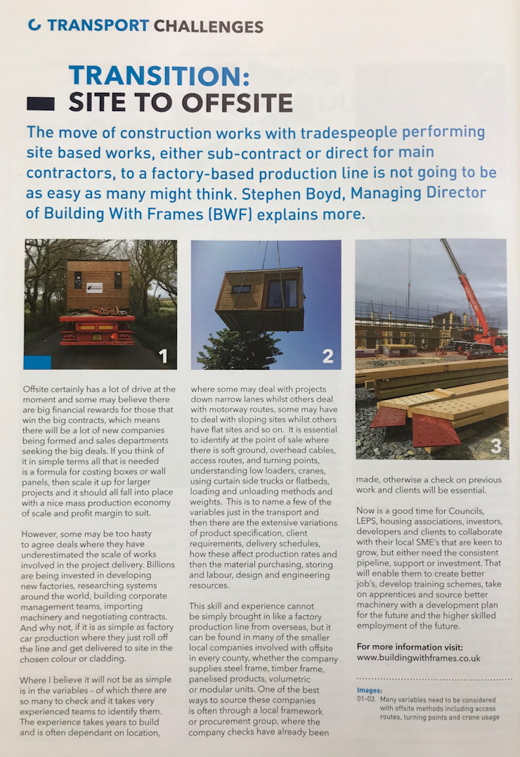 Transition - Site to Offsite Building With Frames Wooden houses Wood