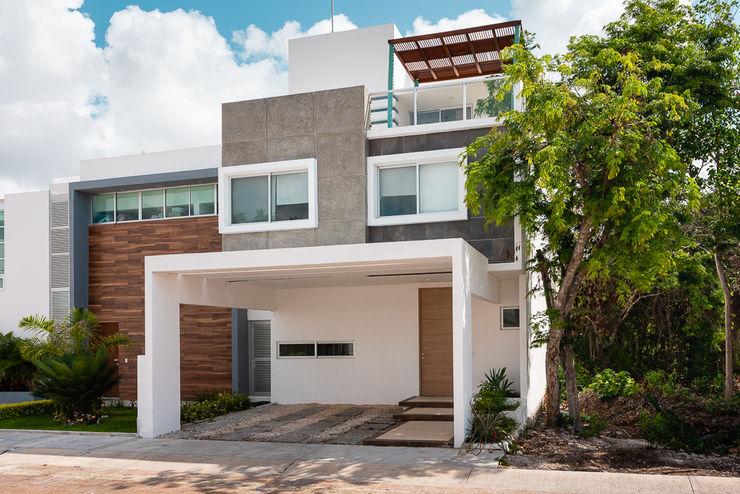 Fachada imaginArq® Casas modernas Concreto