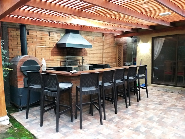 AOG Modern Terrace Bricks Wood effect