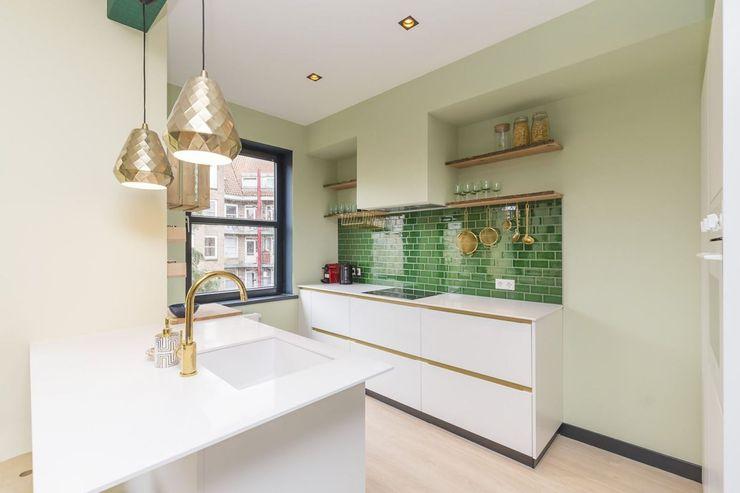 Obradov Studio Small kitchens Tiles Green