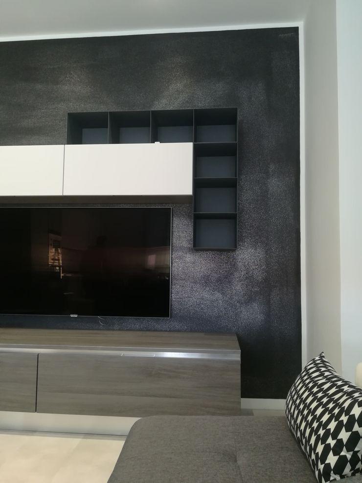 Casa P45 ArchitetturaTerapia® Soggiorno moderno PVC Grigio
