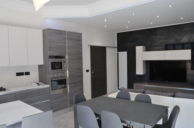 Casa P45 ArchitetturaTerapia® Cucina attrezzata PVC Grigio