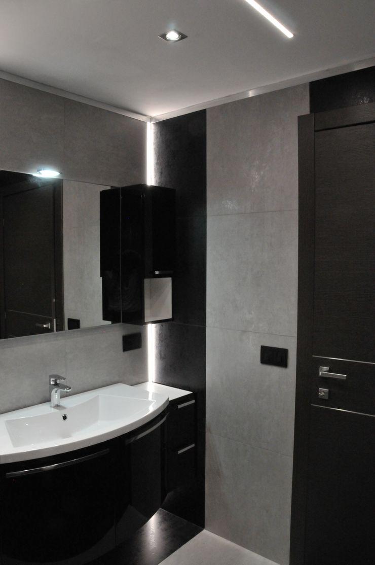 Casa P45 ArchitetturaTerapia® Bagno moderno Ceramica Nero