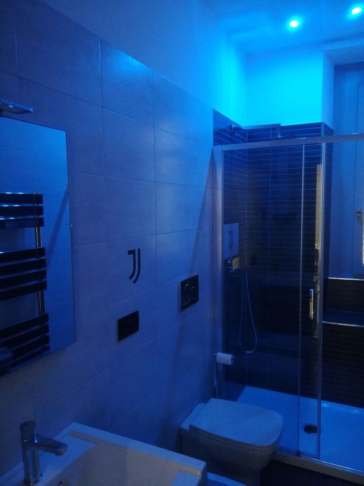 Casa P45 ArchitetturaTerapia® Bagno moderno Blu