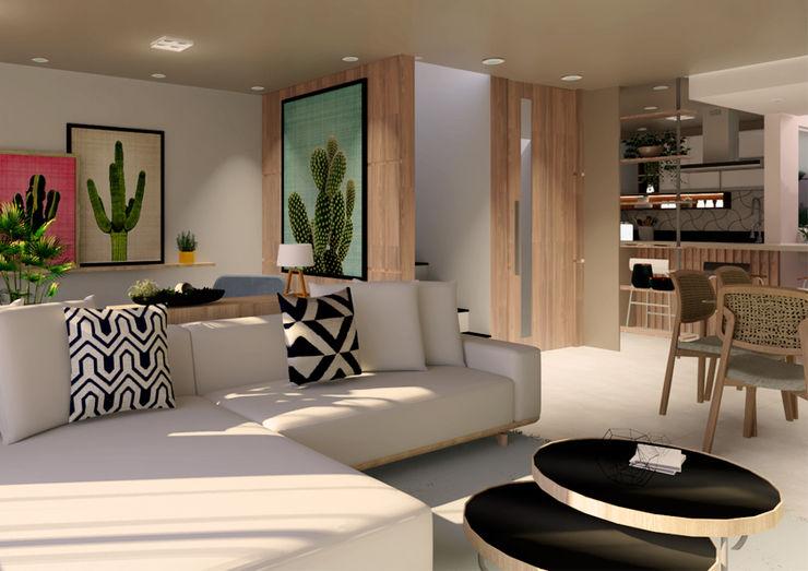 Visão Geral Mirart Arquitetura Salas de estar modernas