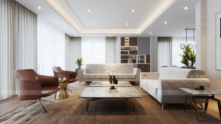 RIKATA DESIGN Salas de estilo moderno