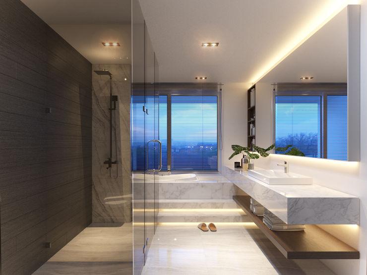RIKATA DESIGN Baños de estilo moderno
