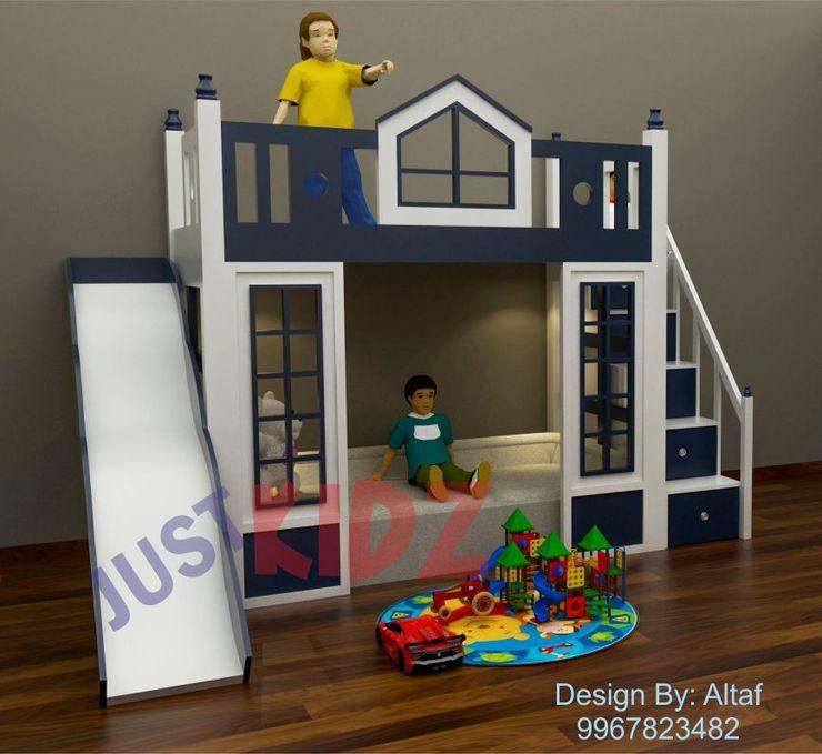 Kids Bunk Bed JUST KIDZ BedroomBeds & headboards Plywood Blue