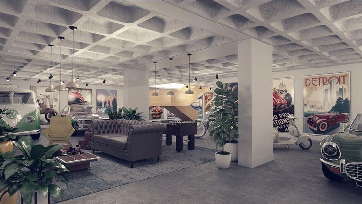 Rafaela Fraga Brás Design de Interiores & Homestyling Car Dealerships Concrete Grey