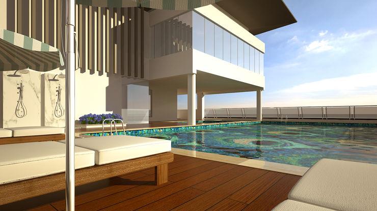 Swimming Pool De Panache - Interior Architects Modern pool