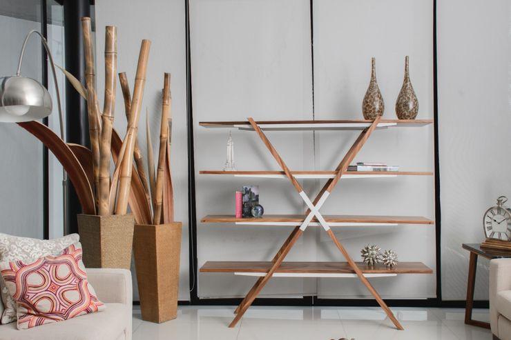Librero X Oyokuwi HogarAccesorios y decoración Madera maciza Acabado en madera