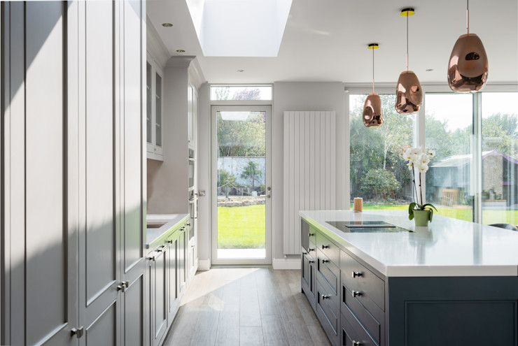 Contemporary Extension Project Photography Hackett Visuals Colonial style conservatory Glass Beige