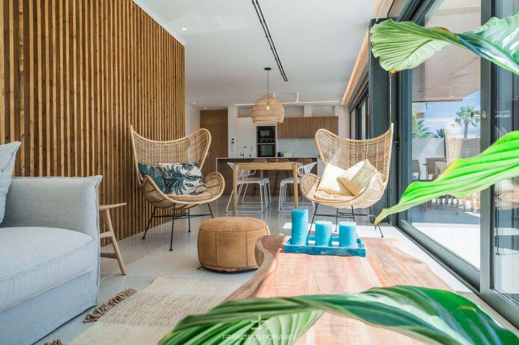 Conjunto de salón de estilo mediterraneo Francisco Pomares Arquitecto / Architect Salones de estilo mediterráneo