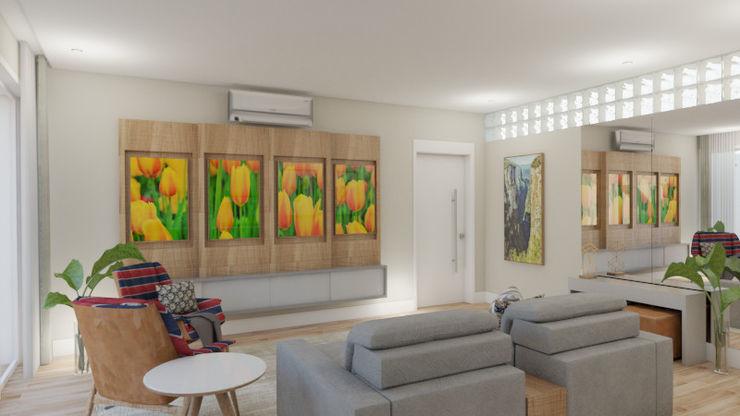 Elaine Hormann Architecture 視聽室 實木 Multicolored