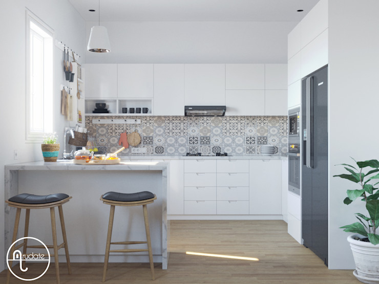 Dapur Minimalis Arudate Design Unit dapur Kayu Lapis White