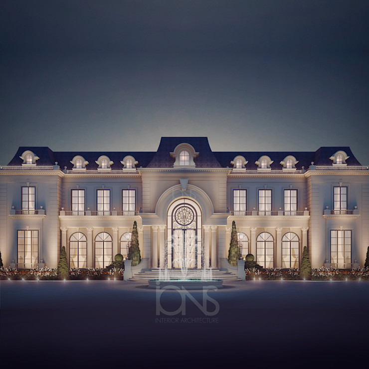 Luxurious Home Design Collection : Royal Palace in Neoclassic Architecture Style IONS DESIGN Klassische Häuser Stein Weiß