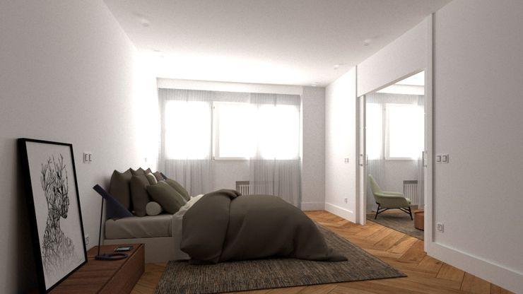 SUITE PRIVADA arQmonia estudio, Arquitectos de interior, Asturias Dormitorios de estilo minimalista