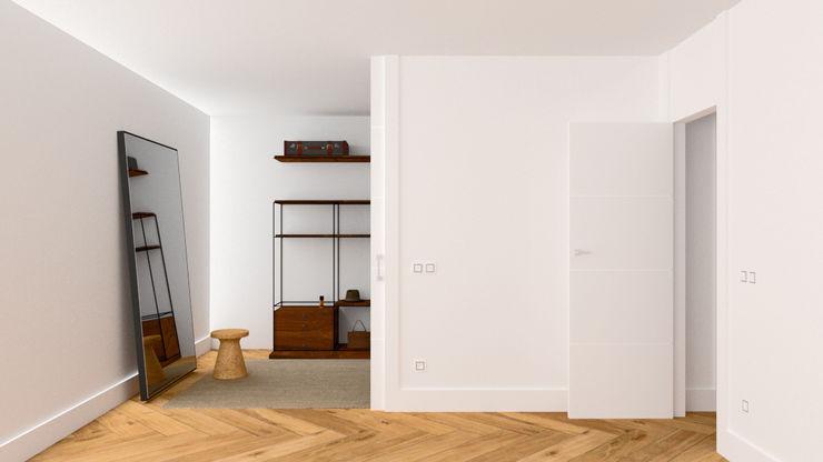DE PEQUEÑO ALMACÉN A VESTIDOR arQmonia estudio, Arquitectos de interior, Asturias Vestidores de estilo minimalista