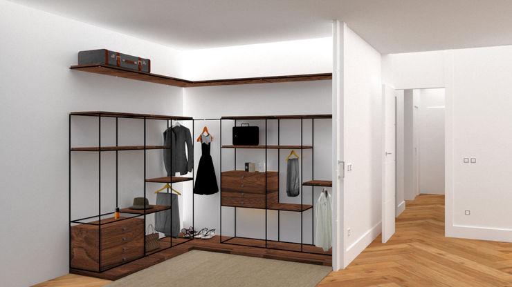 VESTIDOR arQmonia estudio, Arquitectos de interior, Asturias Vestidores de estilo minimalista
