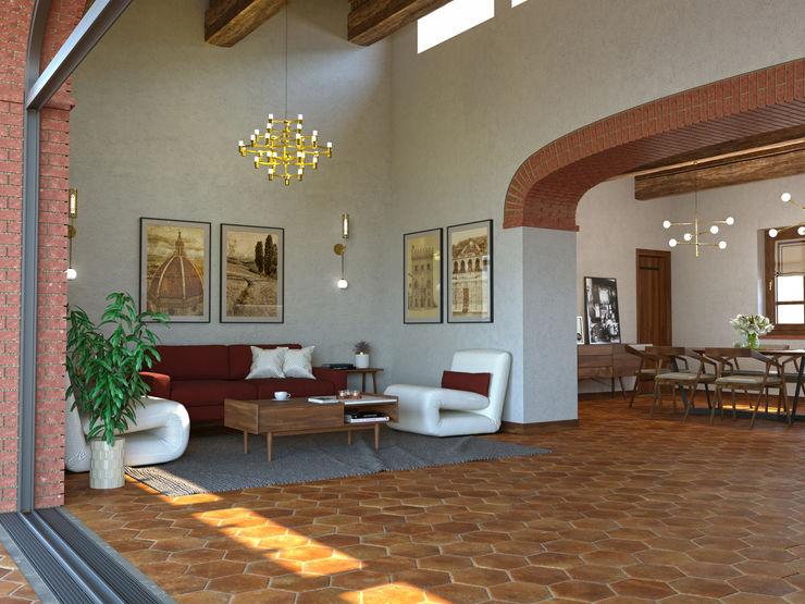 PRIVATE HOUSE SM DESIGN107 Soggiorno rurale