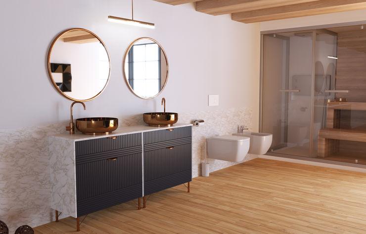 BATHROOM RESTYLING SORAGA DESIGN107 Bagno moderno Bianco