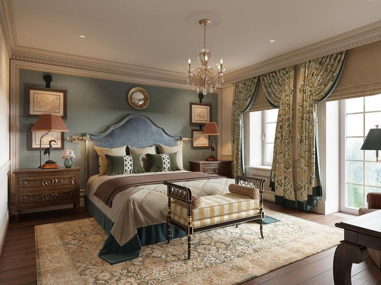 Мужская спальня в доме в Аносино. MARION STUDIO Спальня в классическом стиле