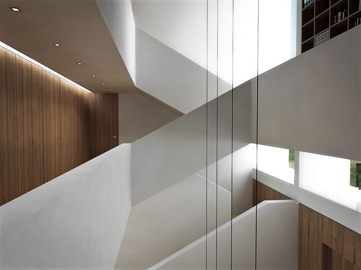 Bayern RRA Arquitectura Escaleras Madera Blanco