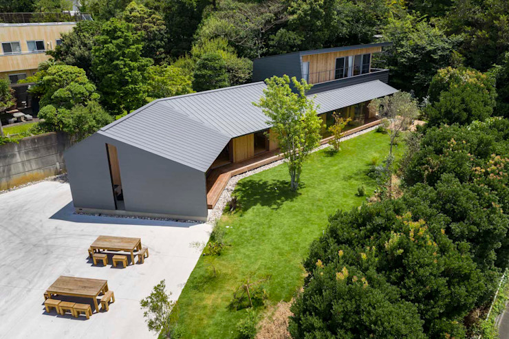hm+architects 一級建築士事務所 Wooden houses Metal