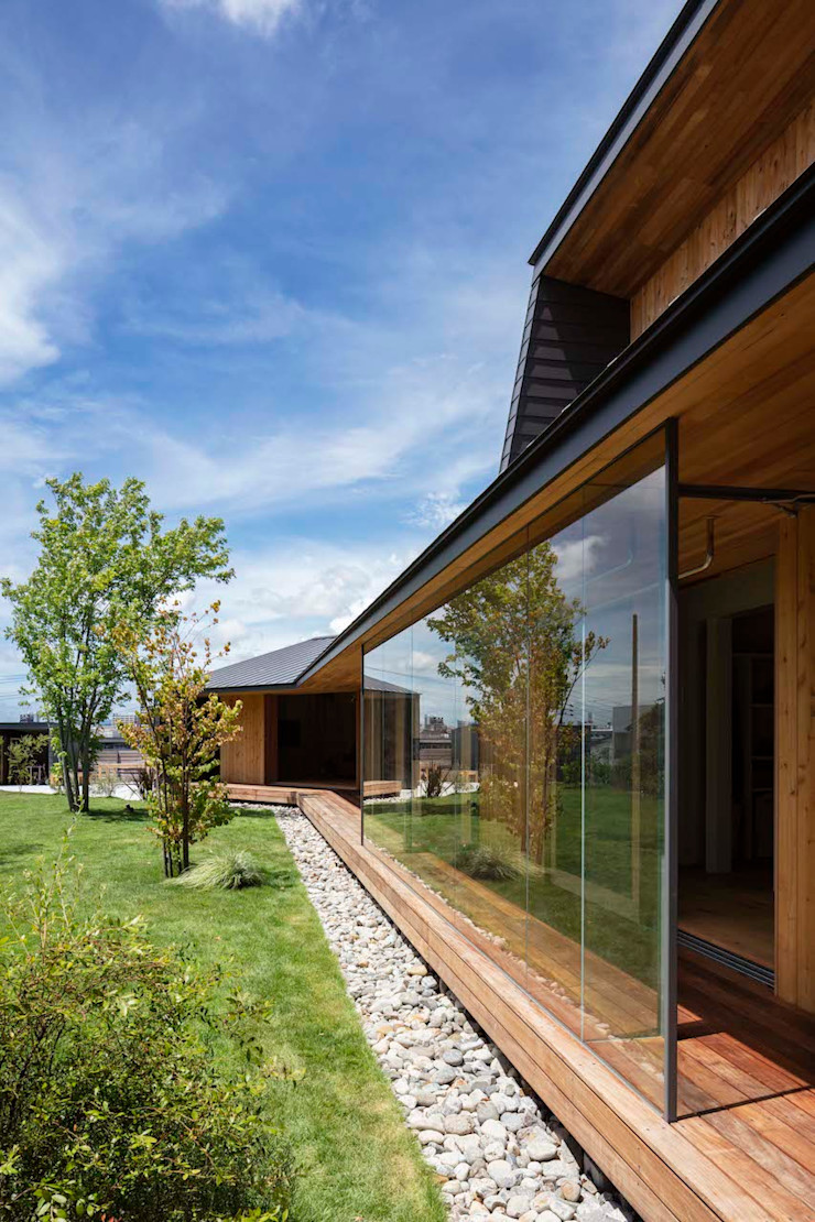 hm+architects 一級建築士事務所 Wooden houses Glass