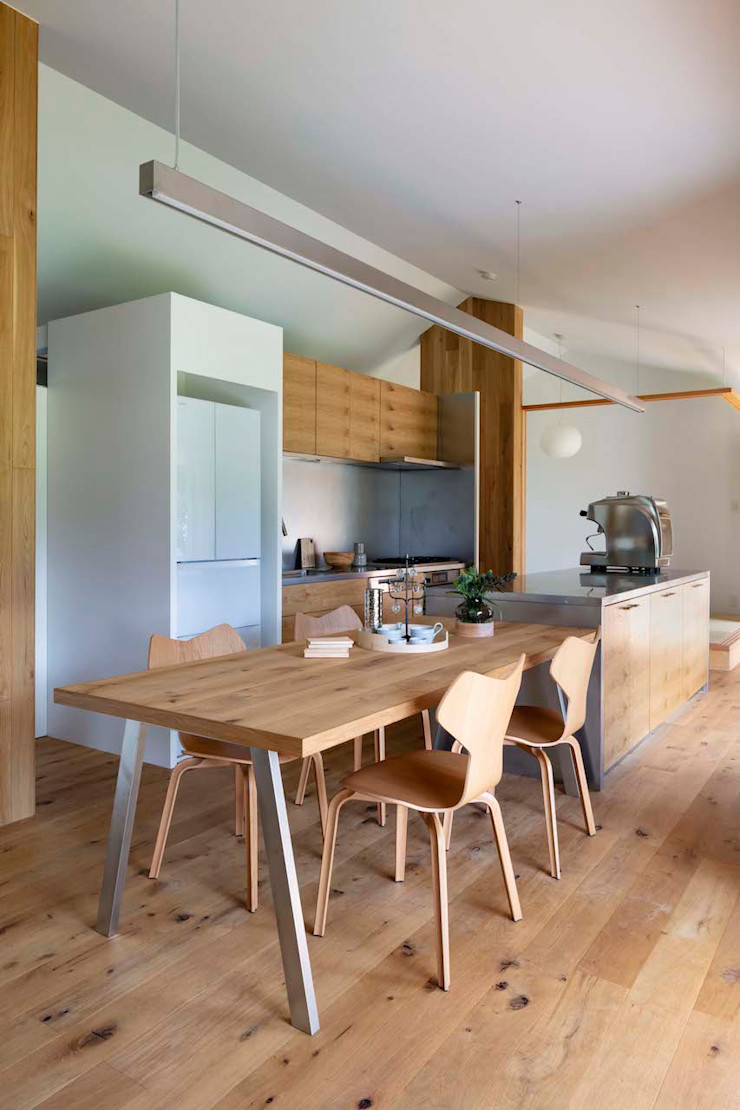 hm+architects 一級建築士事務所 Modern Dining Room