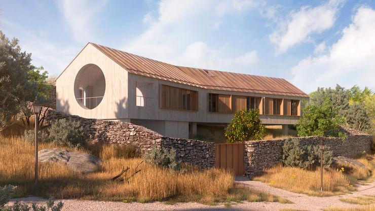 Vivienda bioclimática en Manzanares El Real NOEMA studio Casas unifamilares Hormigón Gris