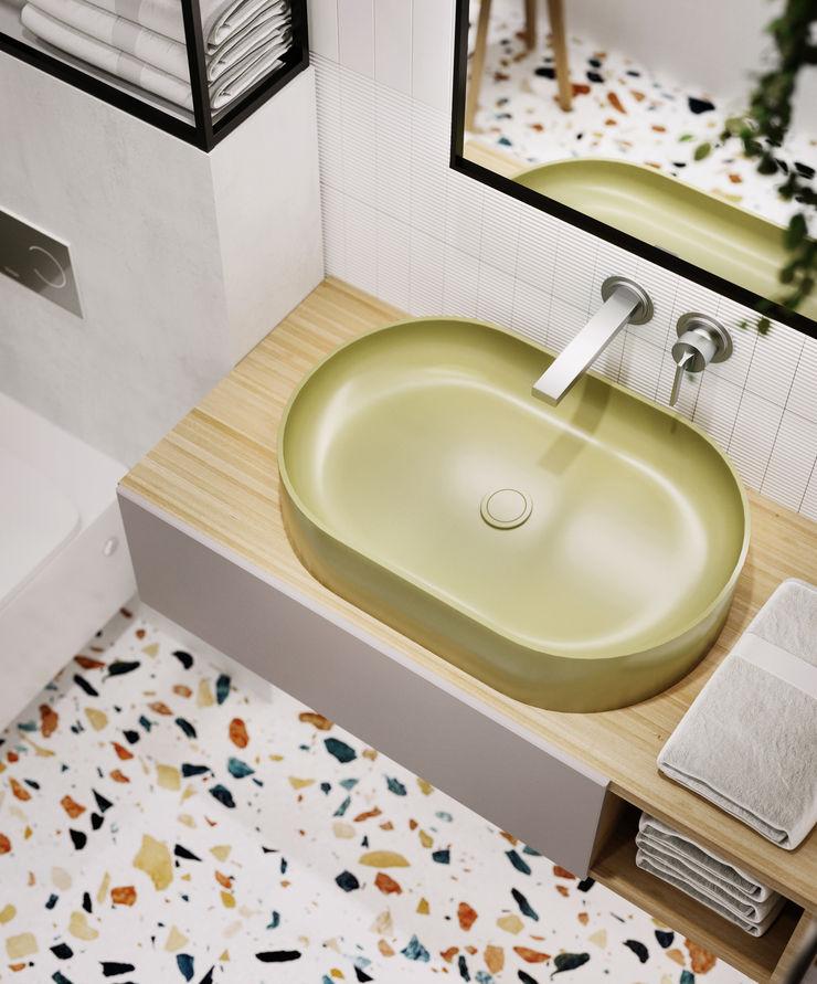 Y.F.architects Baños de estilo minimalista