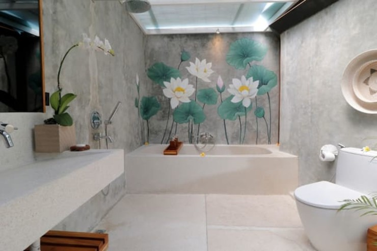 WaB - Wimba anenggata architects Bali Hoteles Concreto Gris