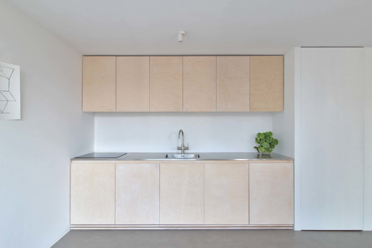 Julius Taminiau Architects Built-in kitchens Wood Wood effect
