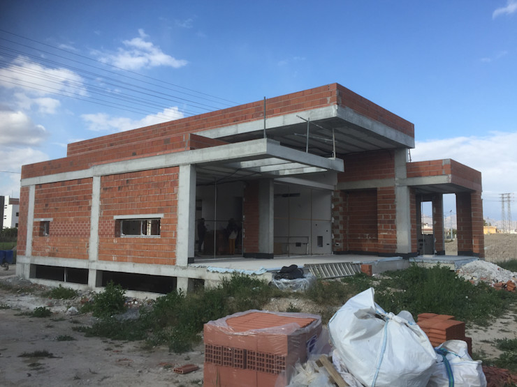 Vivienda moderna en obra. DYOV STUDIO Arquitectura, Concepto Passivhaus Mediterraneo 653 77 38 06