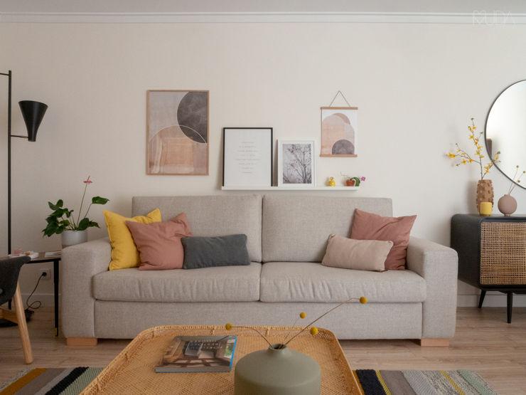 Sala   Depois MUDA Home Design Salas de estar escandinavas