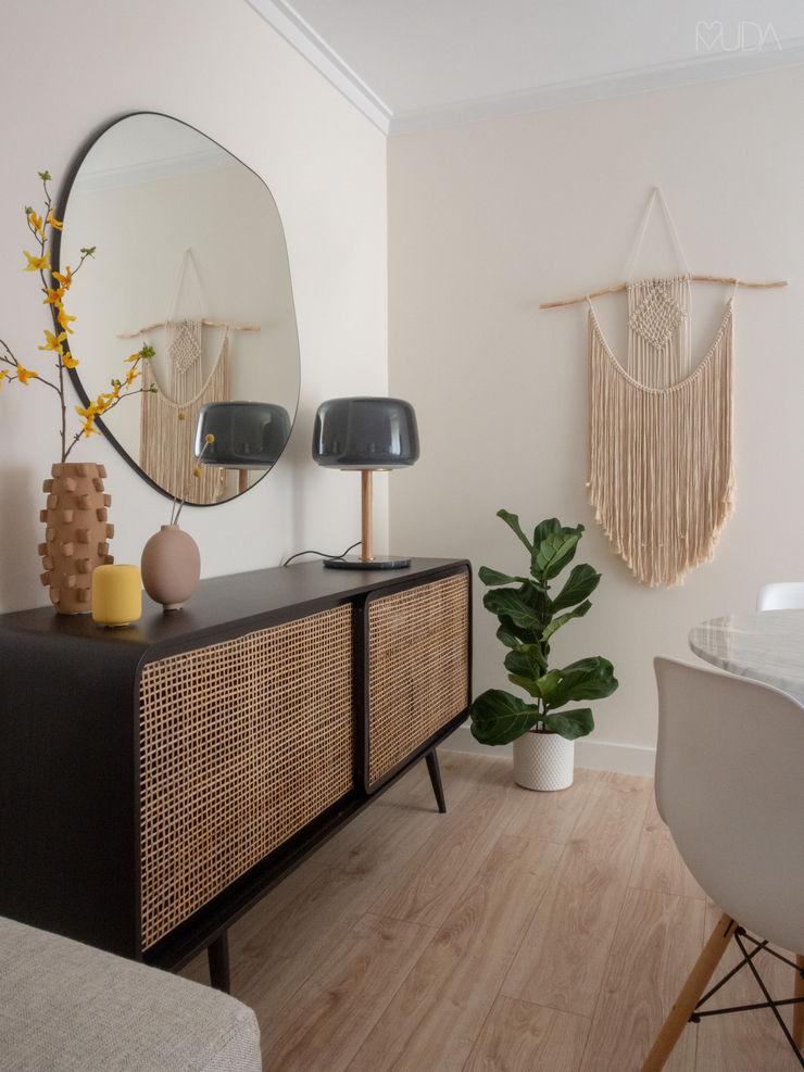 Sala   Depois MUDA Home Design Salas de jantar escandinavas